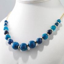 Collier de perles d'agate Caraïbe