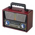 Radio stéréo «vintage» rechargeable