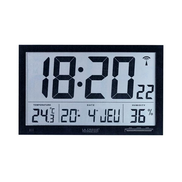 horloge murale digitale radio pilote simple murale duextrieur cm radio pilote uac uac with. Black Bedroom Furniture Sets. Home Design Ideas