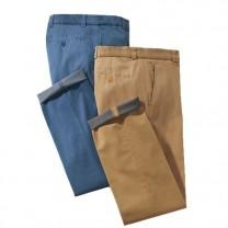 Pantalon Extensible Trendy Jaune