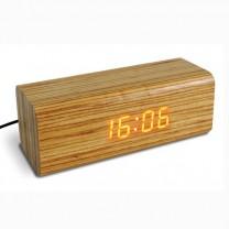 Réveil bois et LEDs