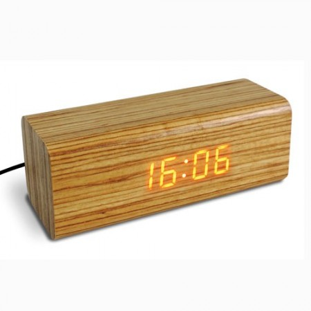 Réveil bois & LEDs