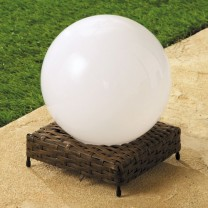 Lampe boule «rotin» solaire