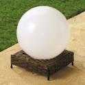 Lampe boule «rotin» solaire
