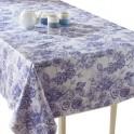 Toile cirée «fleur bleue» rectangulaire