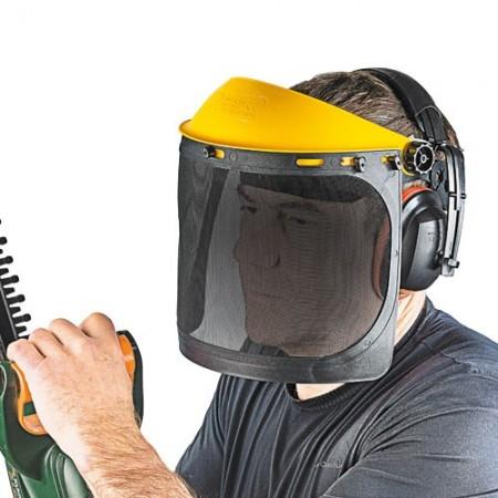 Visière et casque anti-bruit