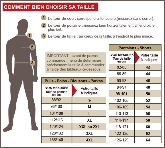 Nos labels l 39 homme moderne - Guide des tailles la redoute ...